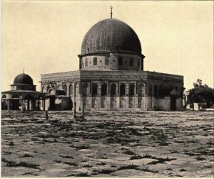 After Dome of the Rock was built. Photo circa 1875 www.think-israel.org