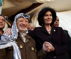 The days of Arafat when western sycophants would proudly stand with him. She would have made a good Nazi, would she not? Photo courtesy of counter-currents.com