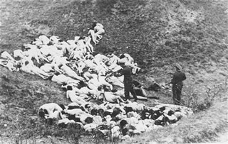 Babi yar in southern Russia. one of the Nazi atrocities discovered after the war which was only rumored in 1941. 33,000 people were murdered and buried in mass graves. Only the Jews in Palestine really believed what was happening. courtesy of  www.berdichev.org