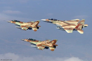What a beautiful site, Israel's air force  has dominated Levantine skies since the war of 1948. They are always ready. www.flickriver.com